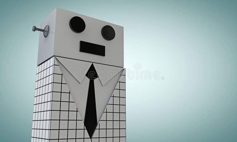 Elegant robot vector illustration