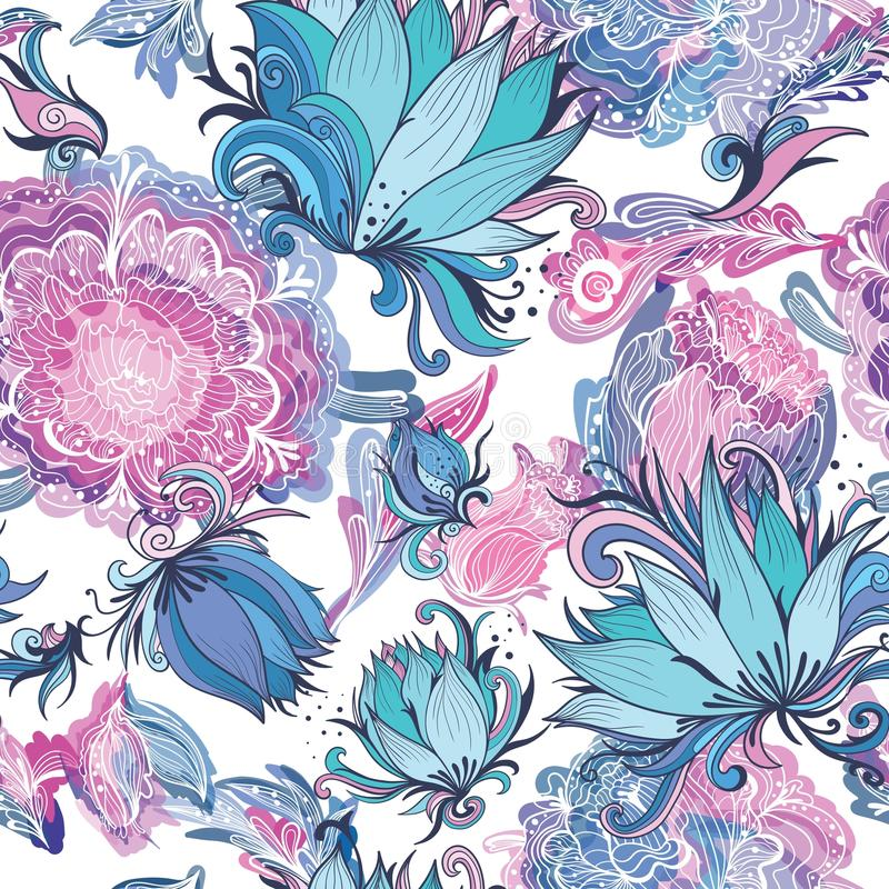 Elegant Romantic Vector Floral Pattern royalty free illustration