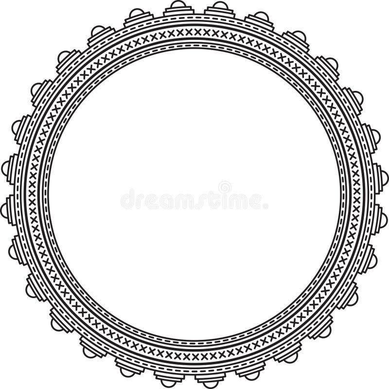 Elegant round frame. On a white stock illustration