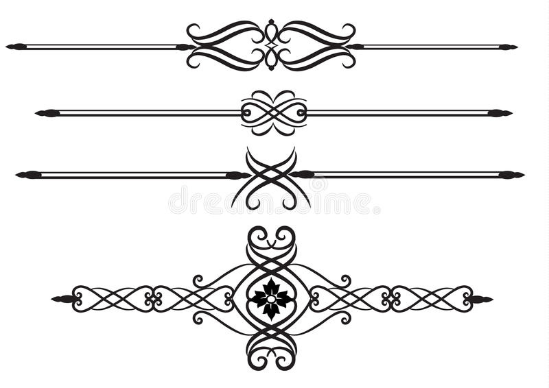 Elegant rule lines royalty free illustration