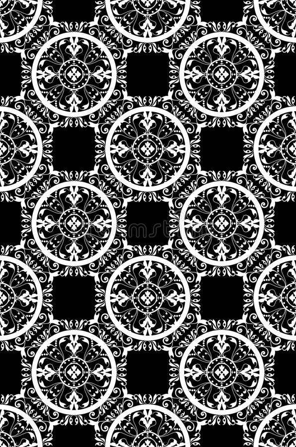 Elegant seamless damask royalty free illustration