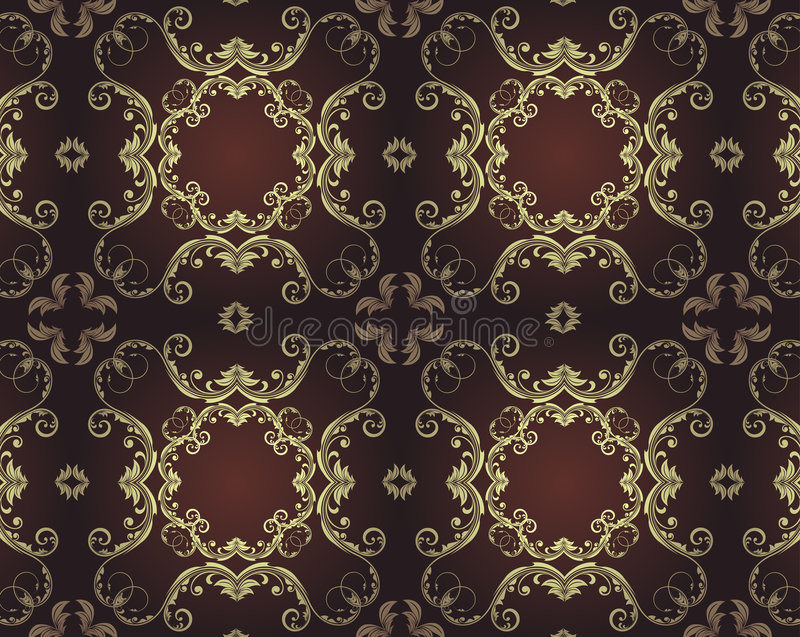 Elegant seamless pattern. Old-fashion style floral background.You can find the original pattern on the swatches palette, so you can change the colors as you wish vector illustration