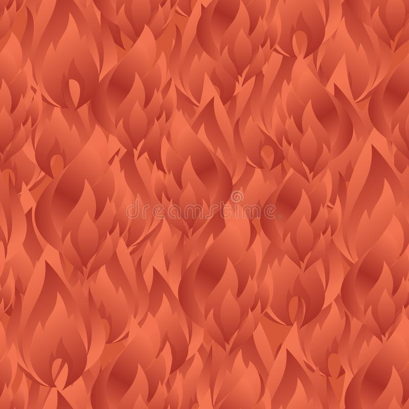 Elegant seamless pattern with abstract fire flames for your design. Eps-8 royalty free illustration
