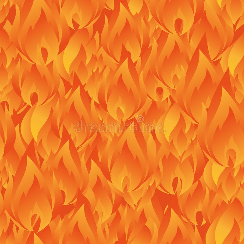 Elegant seamless pattern with abstract fire flames for your design. Eps-8 vector illustration