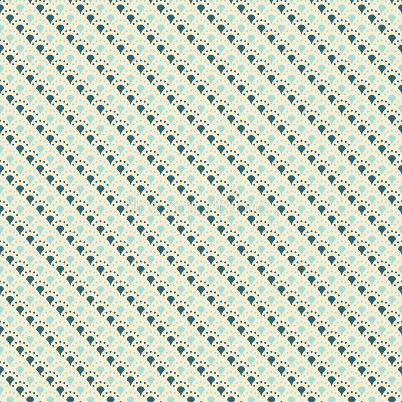 Elegant seamless pattern. Retro blue and white colors. Endless texture can be used for printing onto fabric and paper, scrap booking. Abstract pretty chic royalty free illustration