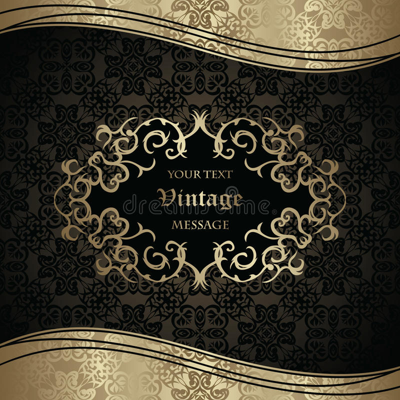 Elegant Seamless Wallpaper With Vintage Frame Stock Vector ...