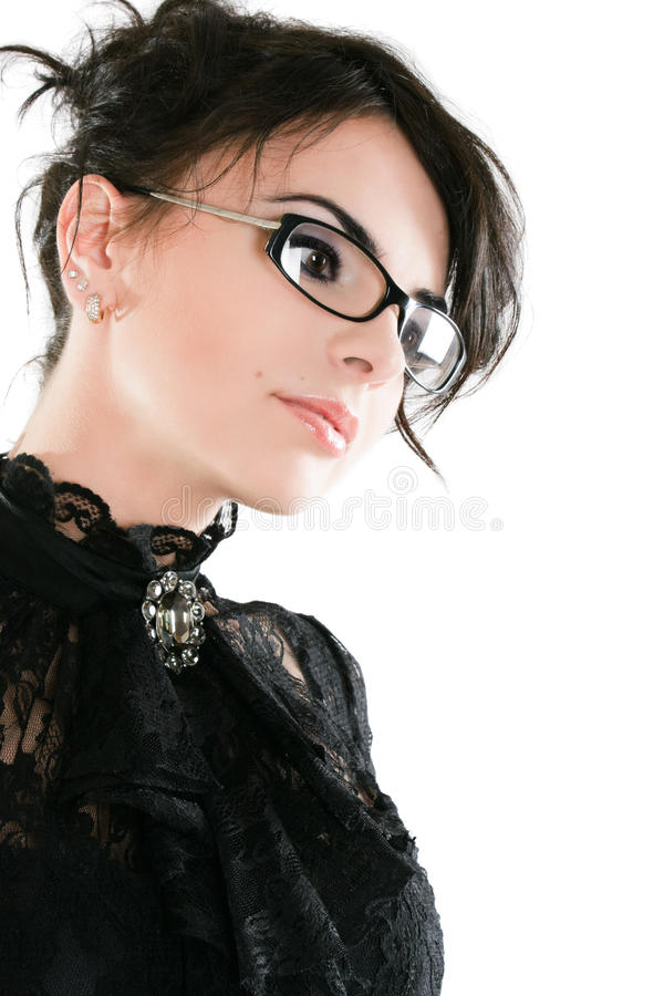 Elegant serious businesswoman stock photo
