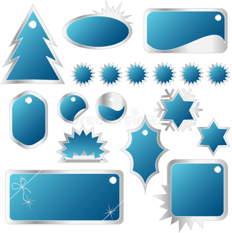 Download Elegant Set Of Red Winter Sales Tags Stock Vector - Illustration: 9910967