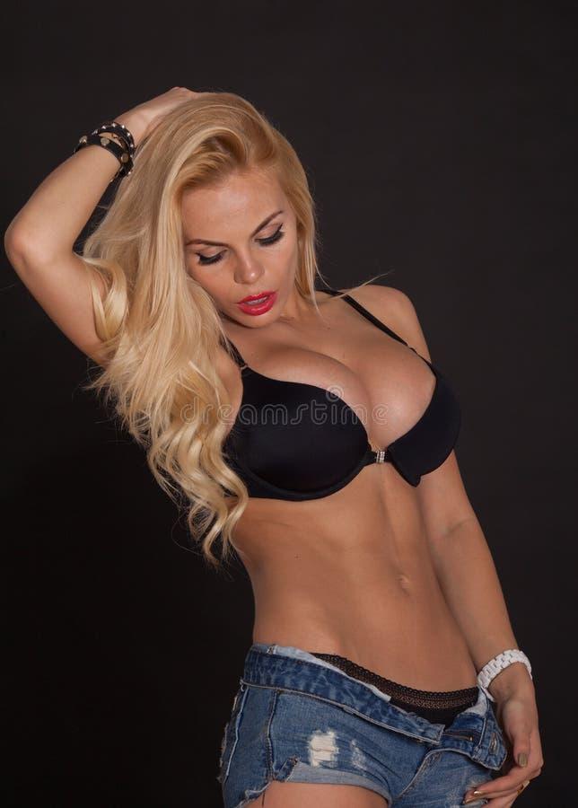 Blonde lingerie ass