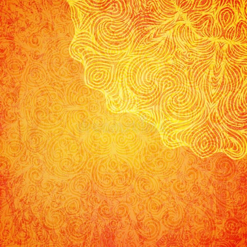 Elegant shiny Indian background with mandala. Vector. stock illustration