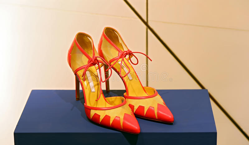 Elegant shoe for ladies stock photo