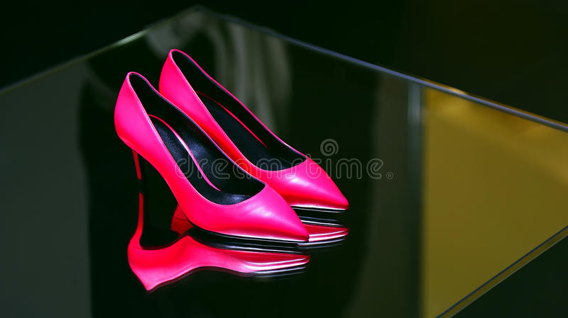 Elegant shoe for ladies stock images