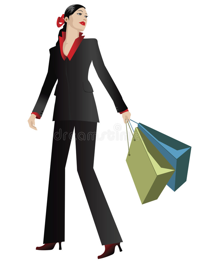 Elegant shopper royalty free illustration