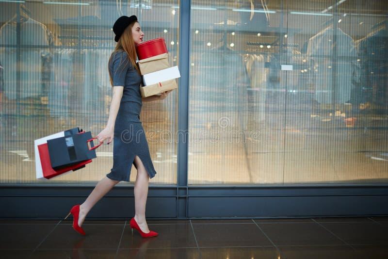 Elegant shopper royalty free stock photography