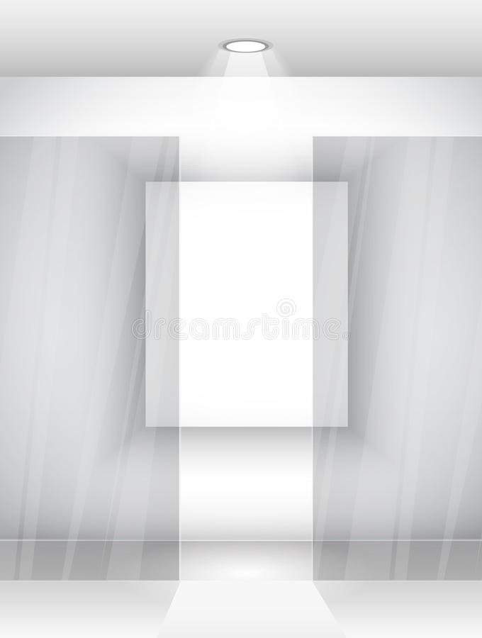 Download Elegant Showroom Wall With Wood Parquet Stock Vector - Image: 19444012