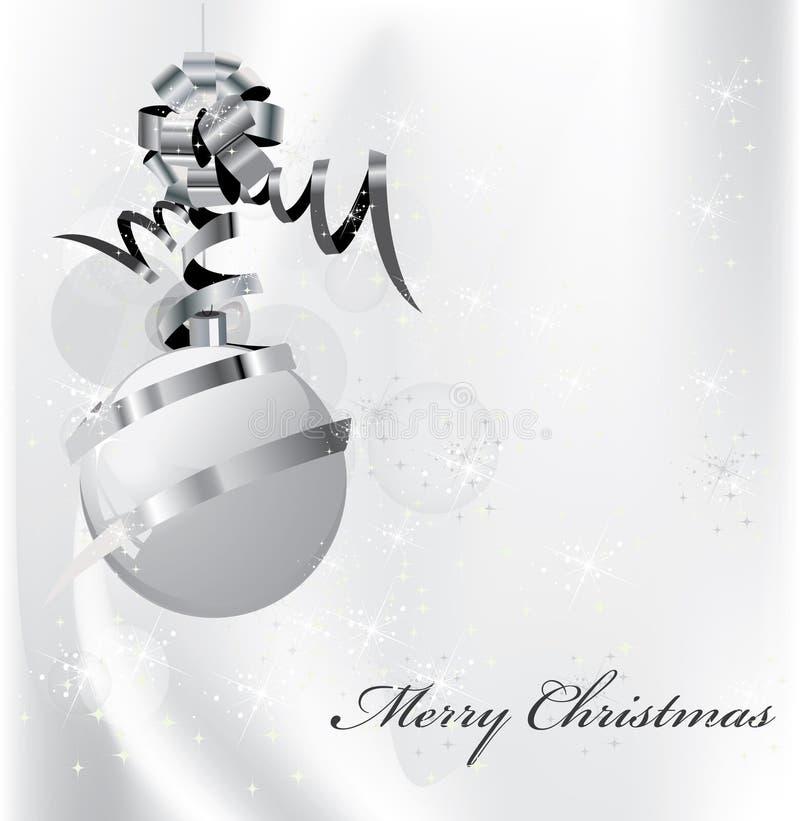 Elegant silver christmas background royalty free illustration