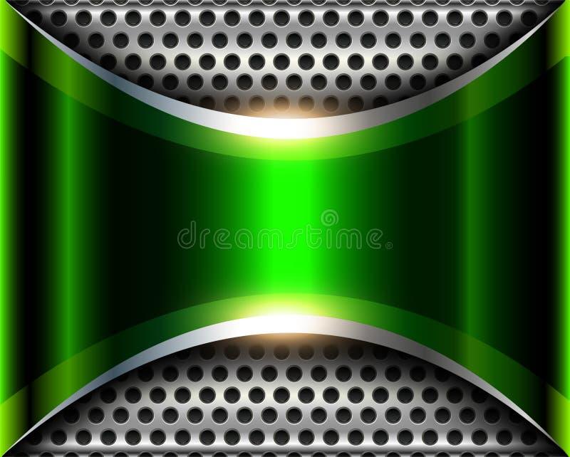 Elegant silver green background 3D vector illustration