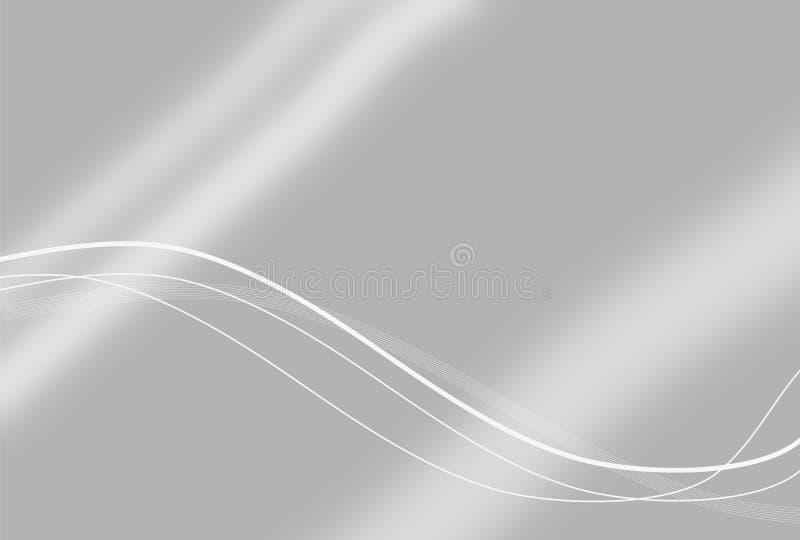 Elegant Silver Technology Background. Illustration vector illustration