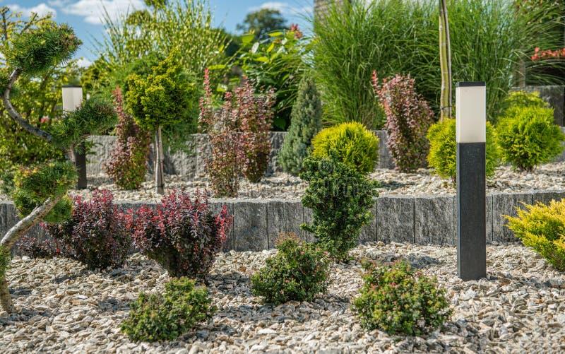 Elegant And Simplistic City Garden Design royalty free stock photography