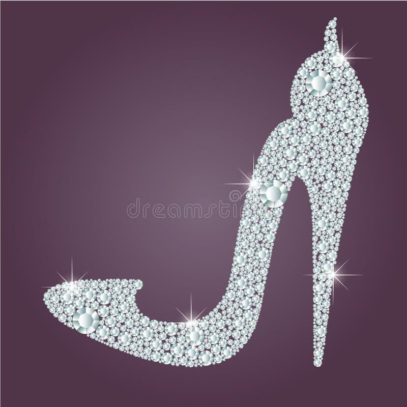 Elegant sko för höga häl för damer vektor illustrationer