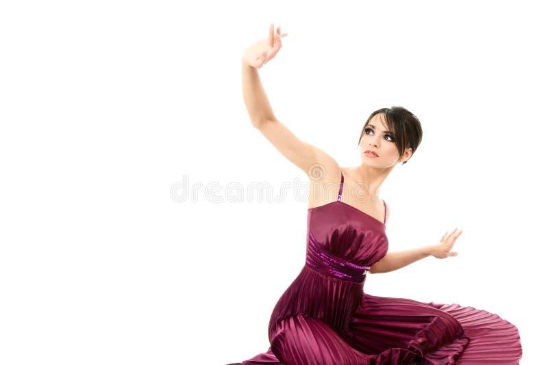 Elegant slender young woman