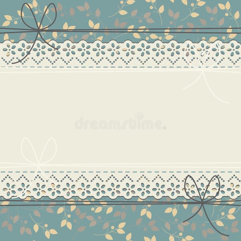 Elegant snöra åt ramen med vårblommor royaltyfri illustrationer