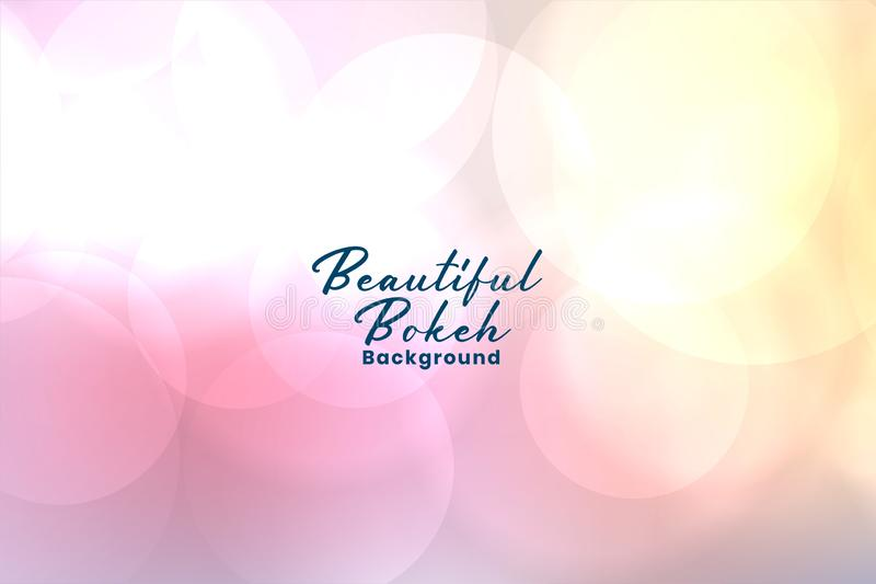 Elegant soft pink blurred bokeh background royalty free illustration