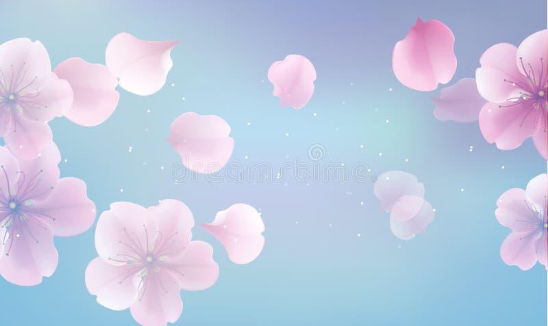 Elegant Soft Pink Color Flowers Stock Vector