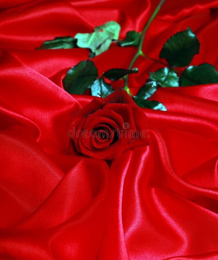 Elegant soft red satin royalty free stock images