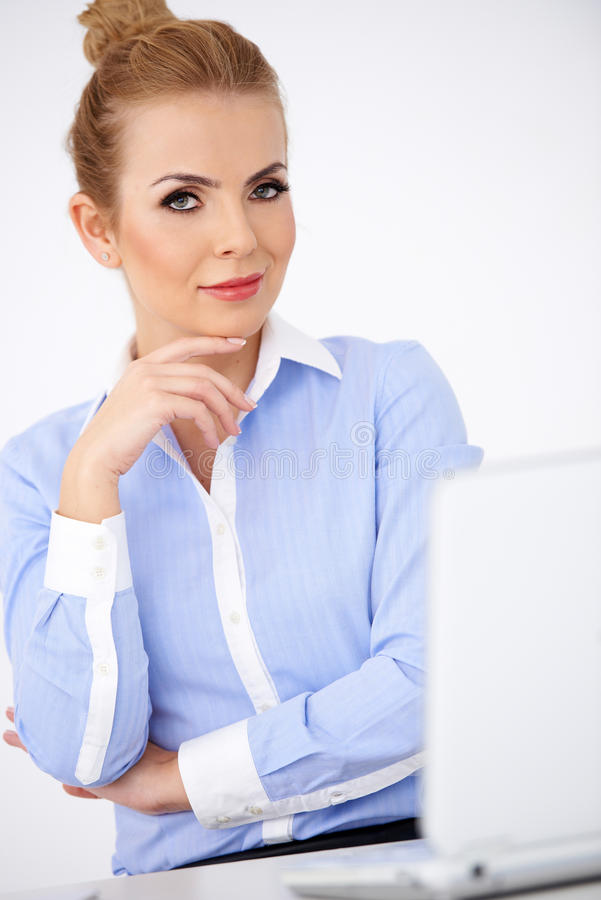 Elegant sophisticated businesswoman stock photography