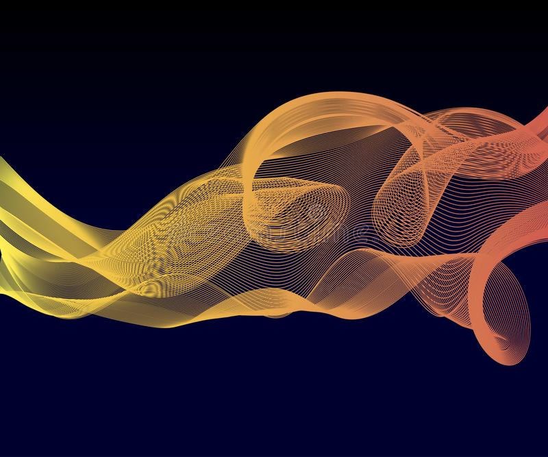 Elegant speed futuristic high-tech swoosh wave stream background. Mild smoke pattern abstract smooth gray modern soft layout. stock image