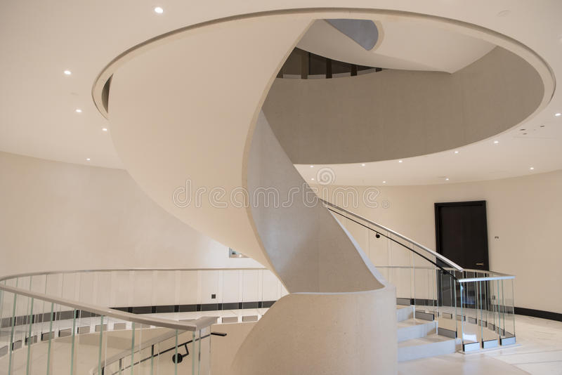 Elegant Spiral Staircase stock images