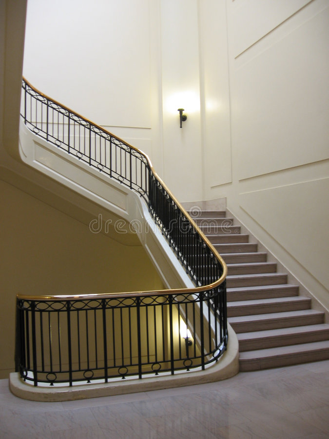 Elegant Stairway royalty free stock photo