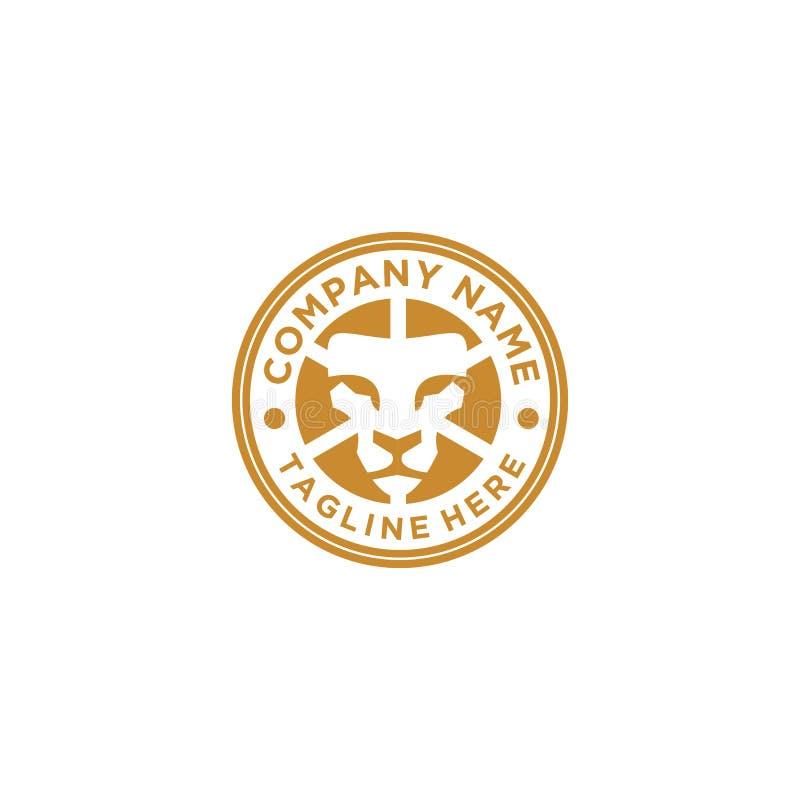 Elegant stil för Lion Logo design royaltyfri illustrationer