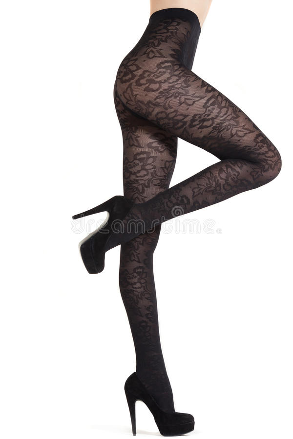 Download Elegant Stockings On Long Legs Isolated On White Stock Photo - Image: 29017700