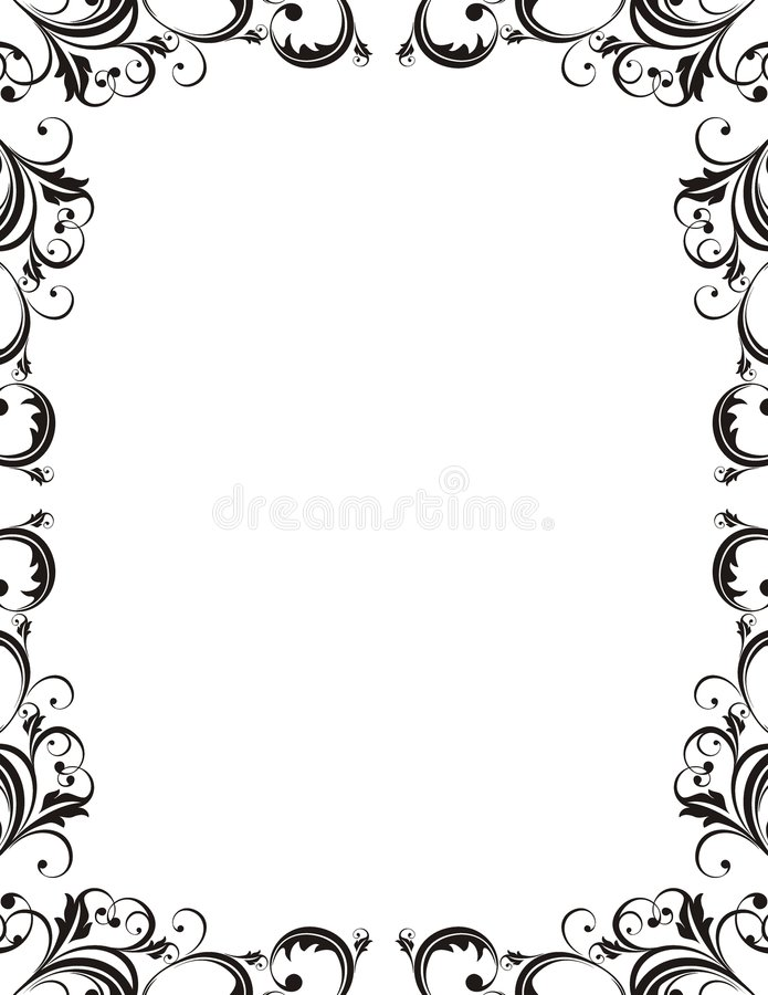 Elegant style frame. Design elements in vector format very easy to edit royalty free illustration