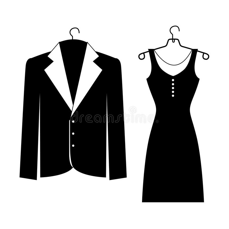 Elegant suits stock illustration