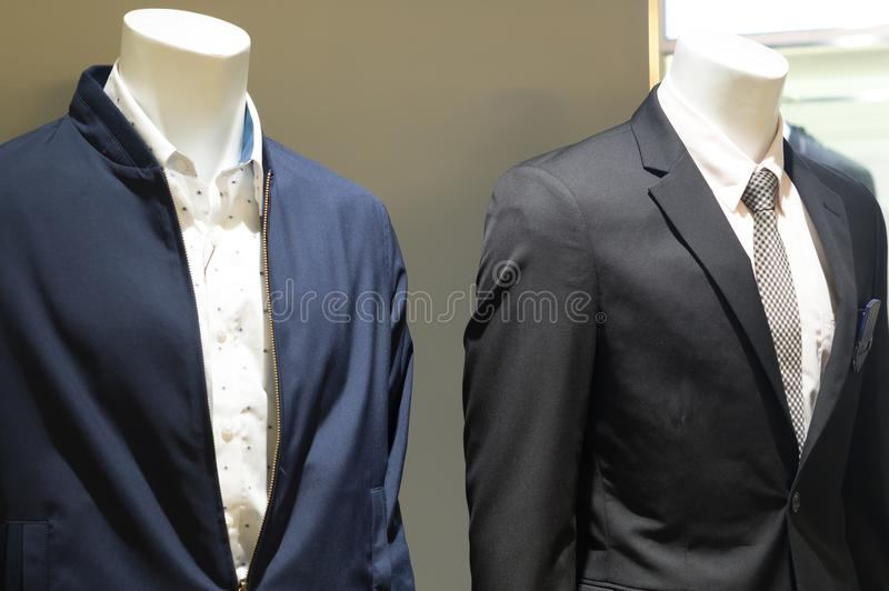 Elegant suits worn by mannequin on sale stock images