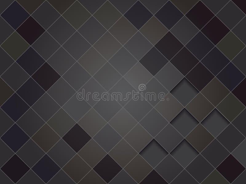 Elegant svart geometrisk vektorbakgrund, squarish textur royaltyfri illustrationer