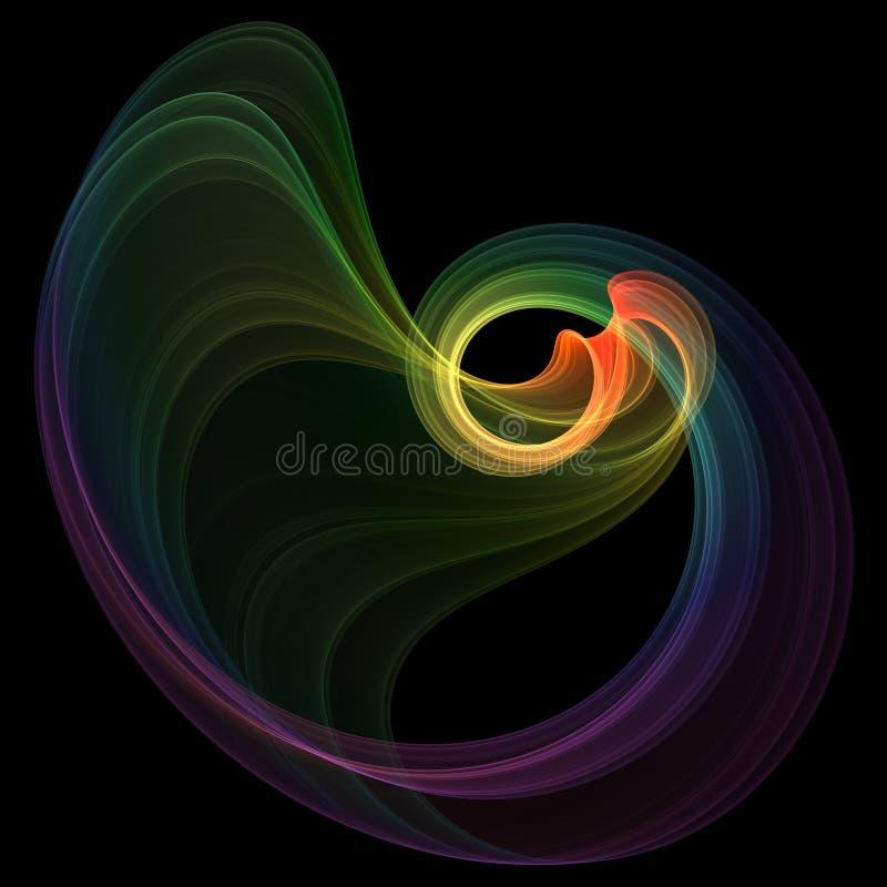 Elegant swirl stock illustration
