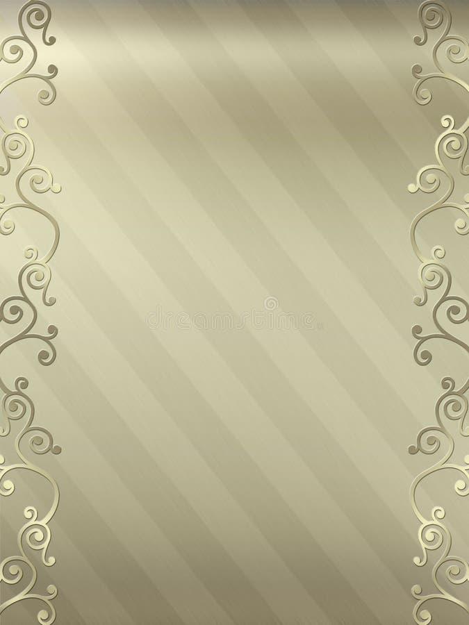 Elegant Swirl Design Border Royalty Free Stock Photography