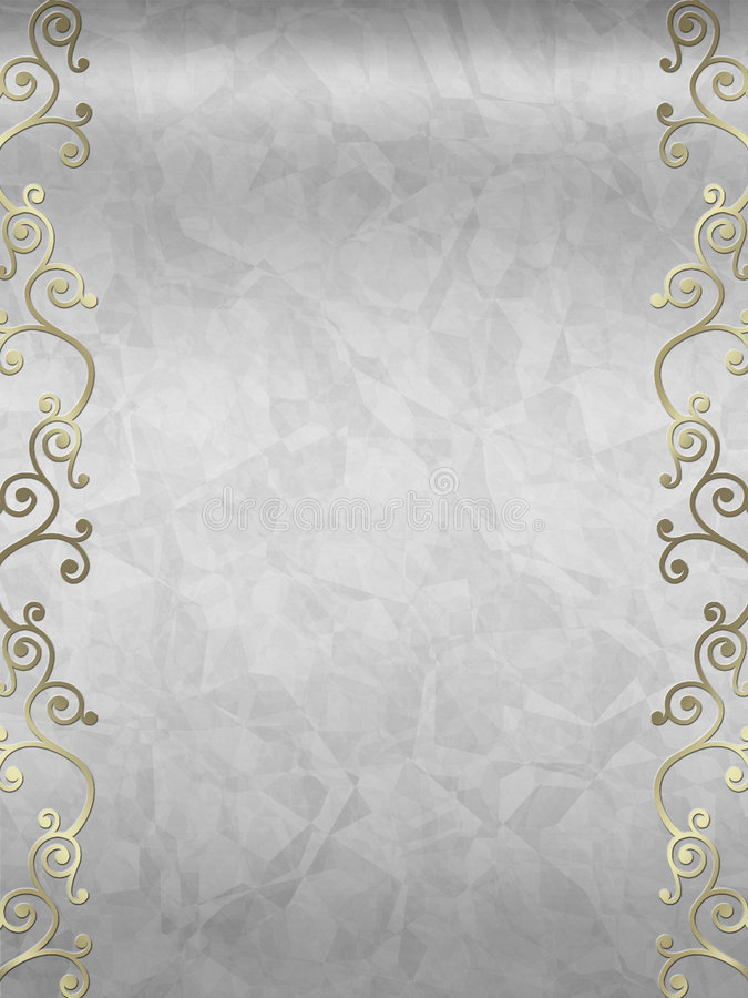 Free Elegant Swirl Design Border Stock Photography - 5296962