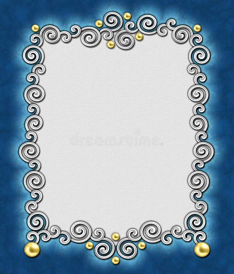 Elegant Swirl Frame 2 stock photos