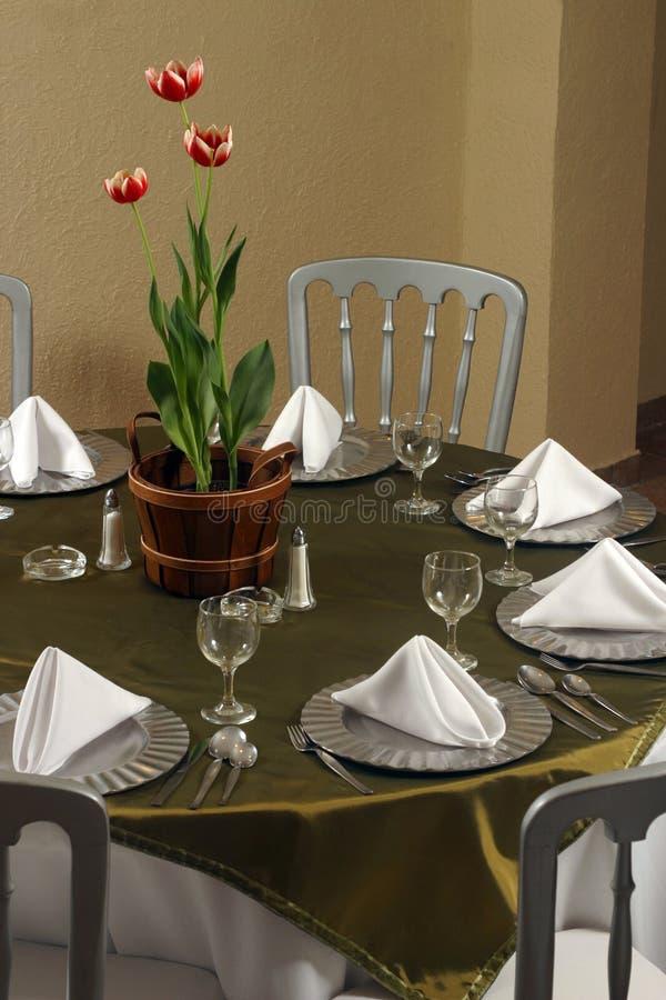 Elegant table royalty free stock image