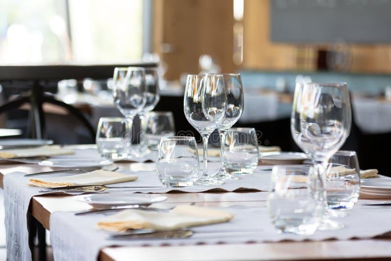Elegant table set royalty free stock photography