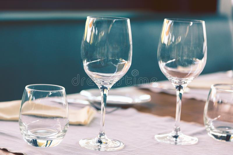 Elegant table set stock images
