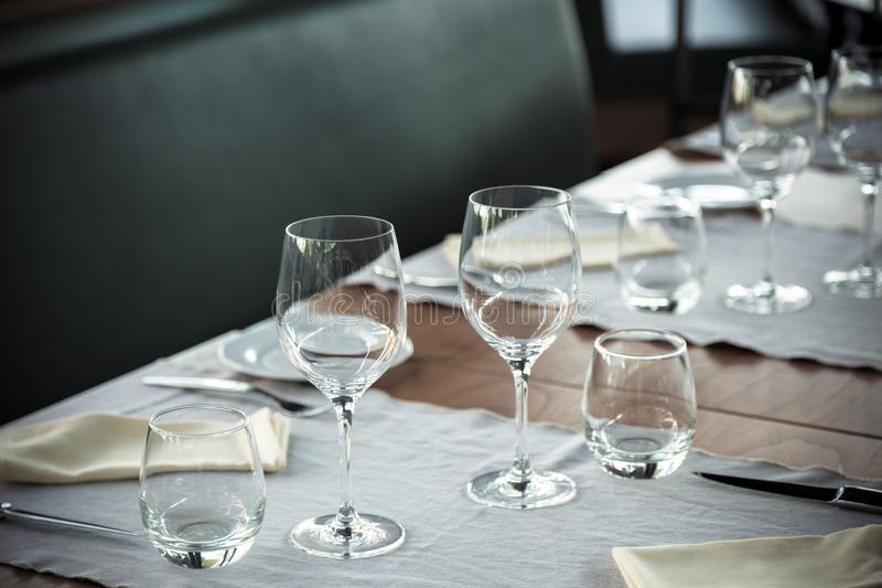 Elegant table set royalty free stock photography
