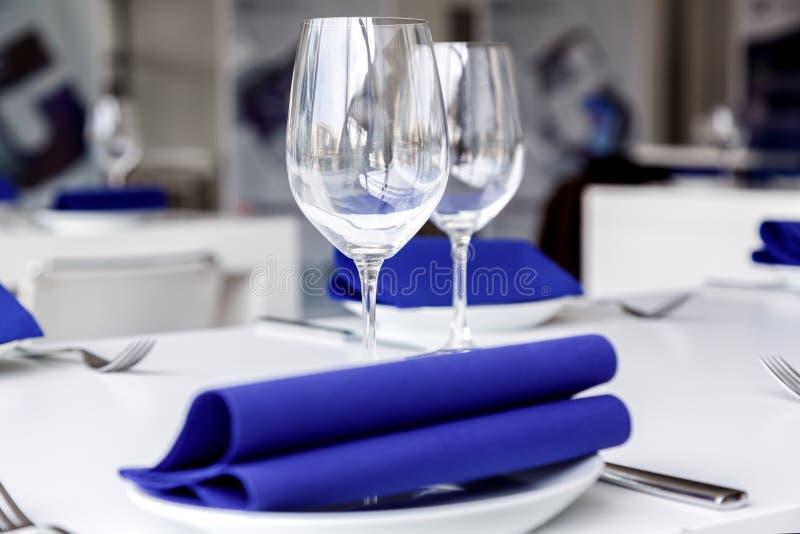 Elegant table set stock photos