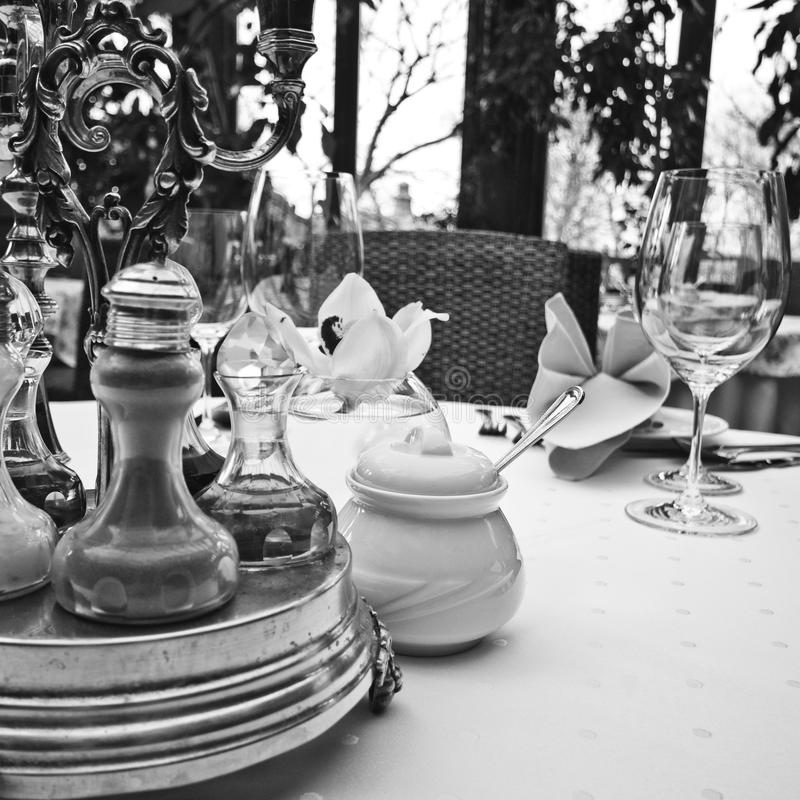 Elegant table setting royalty free stock image