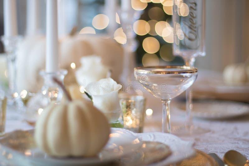 Elegant table setting stock photo